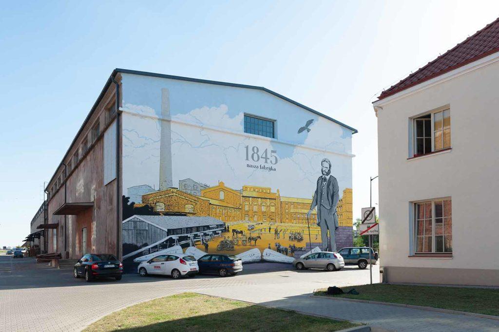 live media crew sokolow podlaski mural