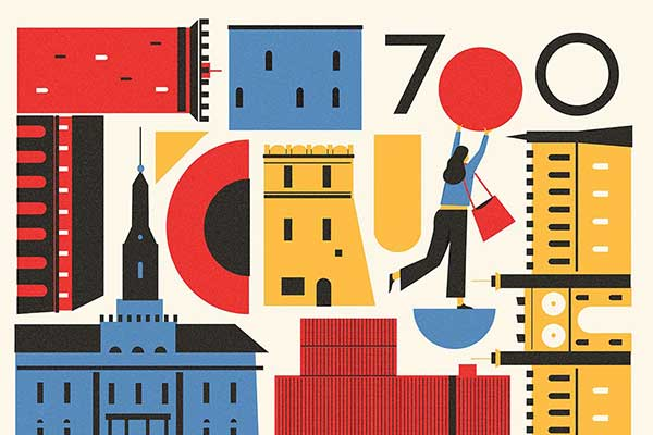 Mural 700-lecie Lublina, projekt Dawid Ryski